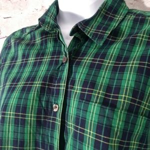 Steven alan button up Christmas shirt